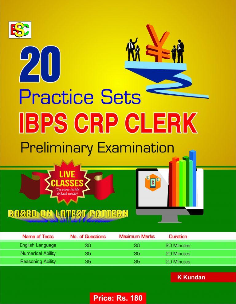 20 PRACTICE SETS IBPS CRP CLERK PRELIMINARY EXAMINATION