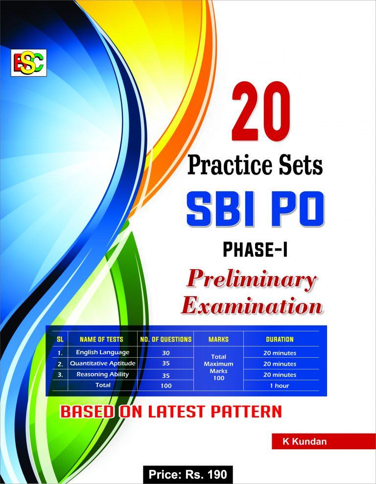 20 PRACTICE SETS SBI PO PHASE-I PRELIMINARY EXAMINATION (ENGLISH)