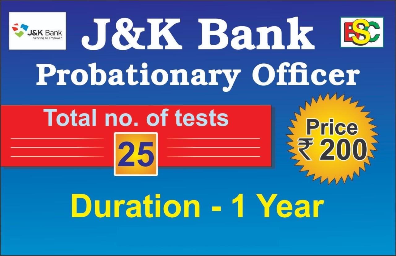 J & K BANK PO