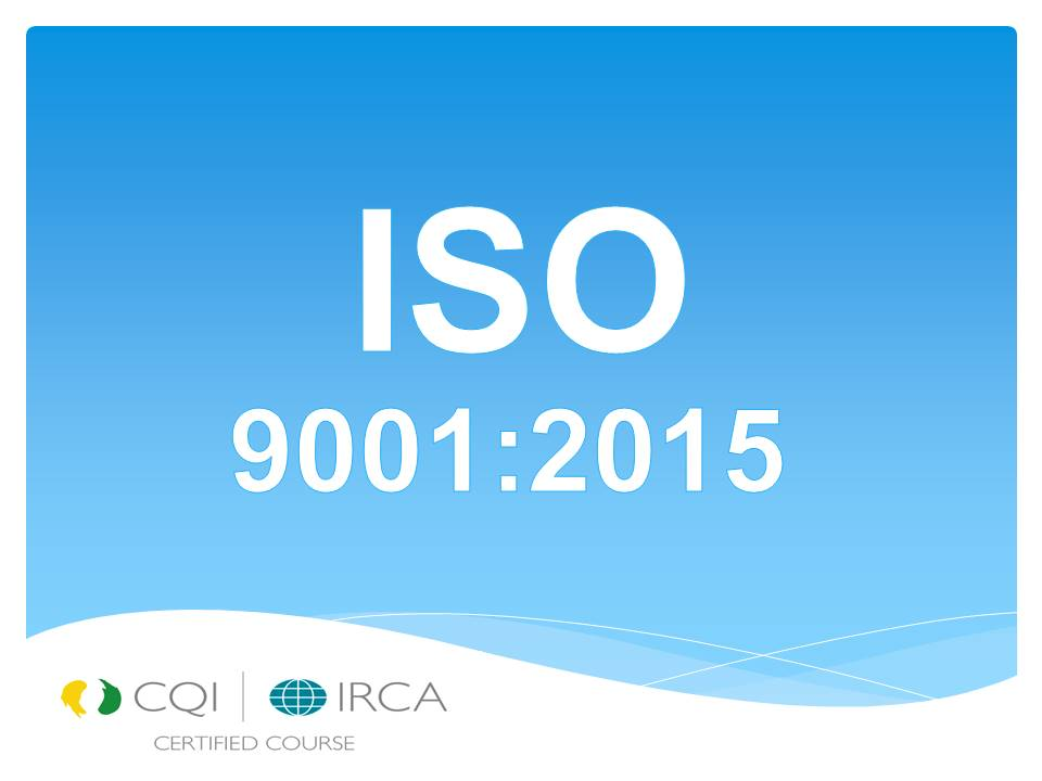 LEAD AUDITOR ISO 9001:2015 QUALITY MANAGEMENT SYSTEM (TRG-VTLA014,05,20)