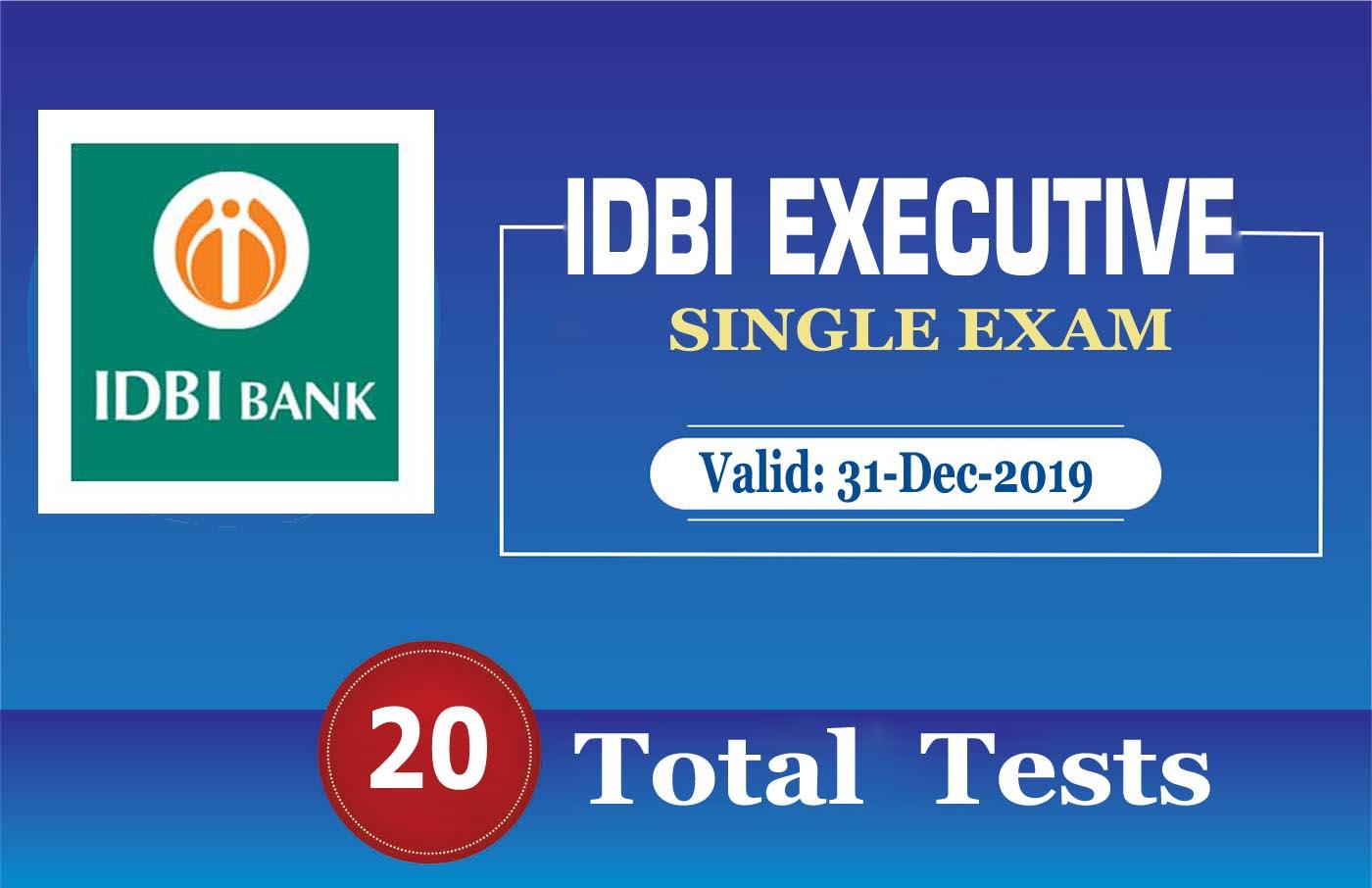 IDBI EXECUTIVE 2019