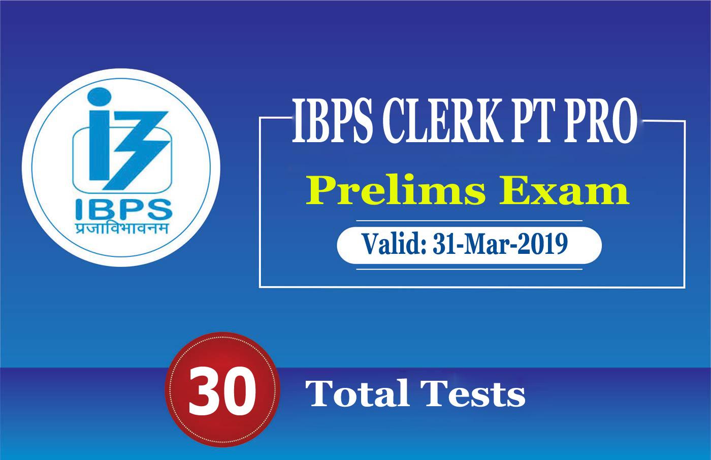 IBPS CLERK PT PRO
