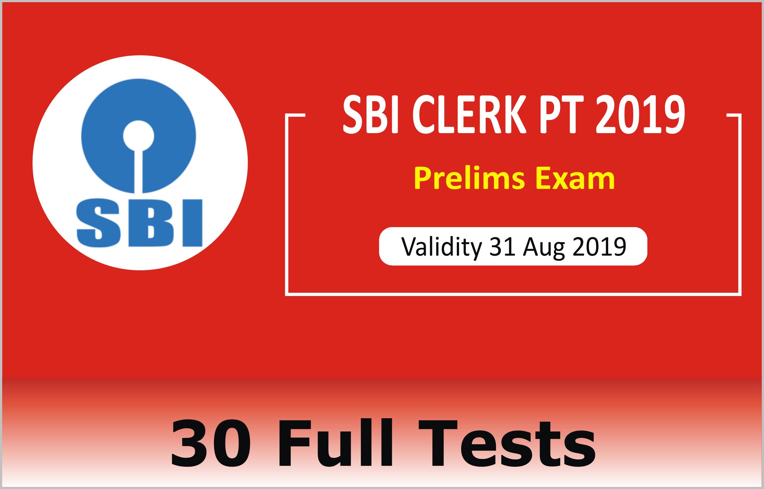 SBI CLERK PT 2019