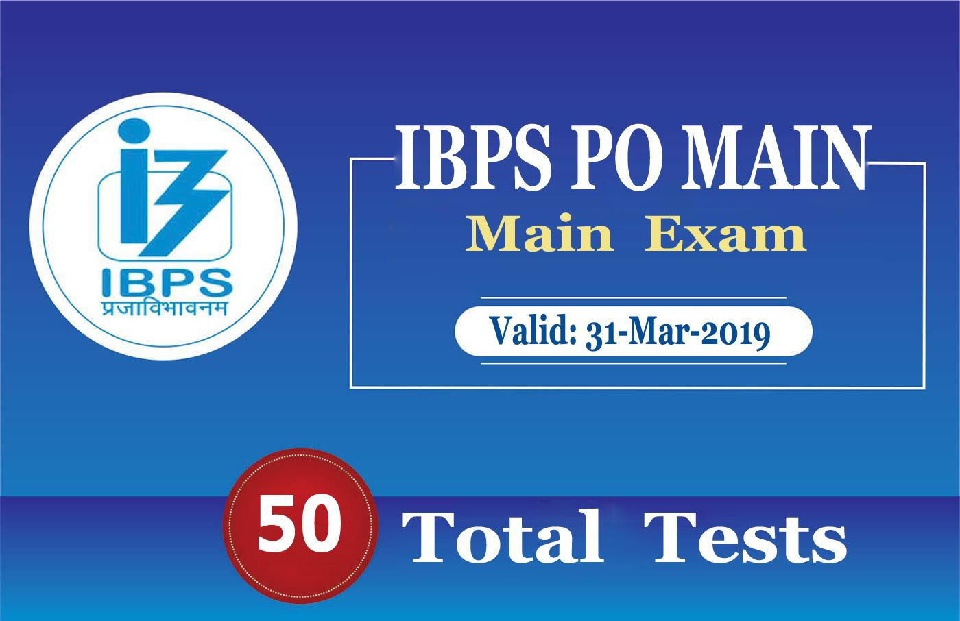 IBPS PO MAIN 2018