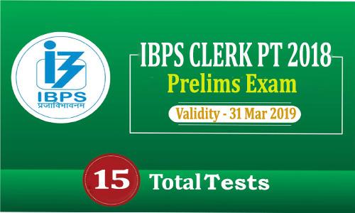 IBPS CLERK PT 2018