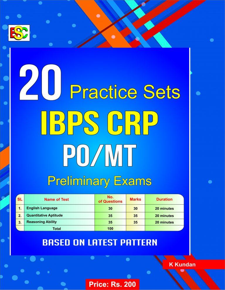 20 PRACTICE SETS IBPS CRP PO/MT PRELIMINARY EXAMS- ENGLISH
