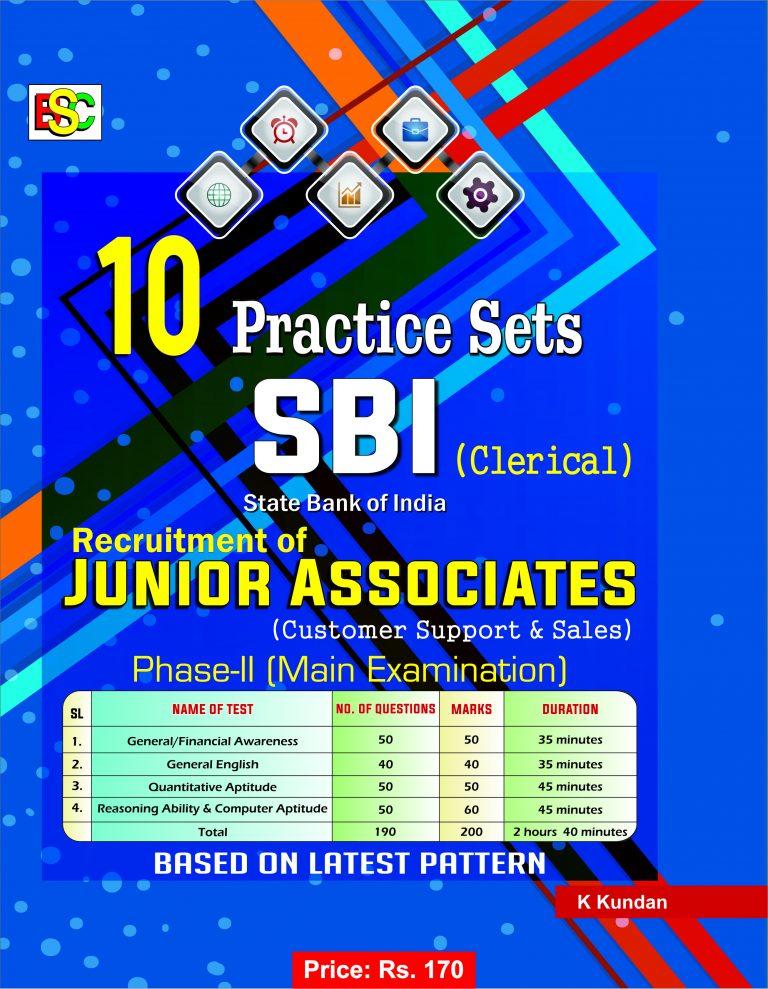 10 PRACTICE SETS SBI CLERICAL JUNIOR ASSOCIATES PH-11 MAIN EXAMINATION- ENGLISH