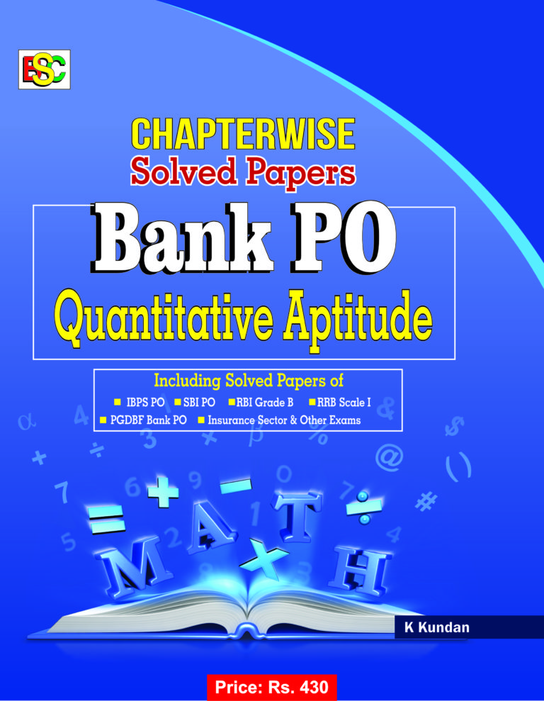CHAPTER WISE SOLVED PAPERS BANK PO QUANTATIVE APTITUDE