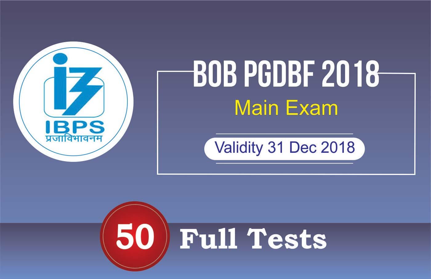 BOB PGDBF 2018