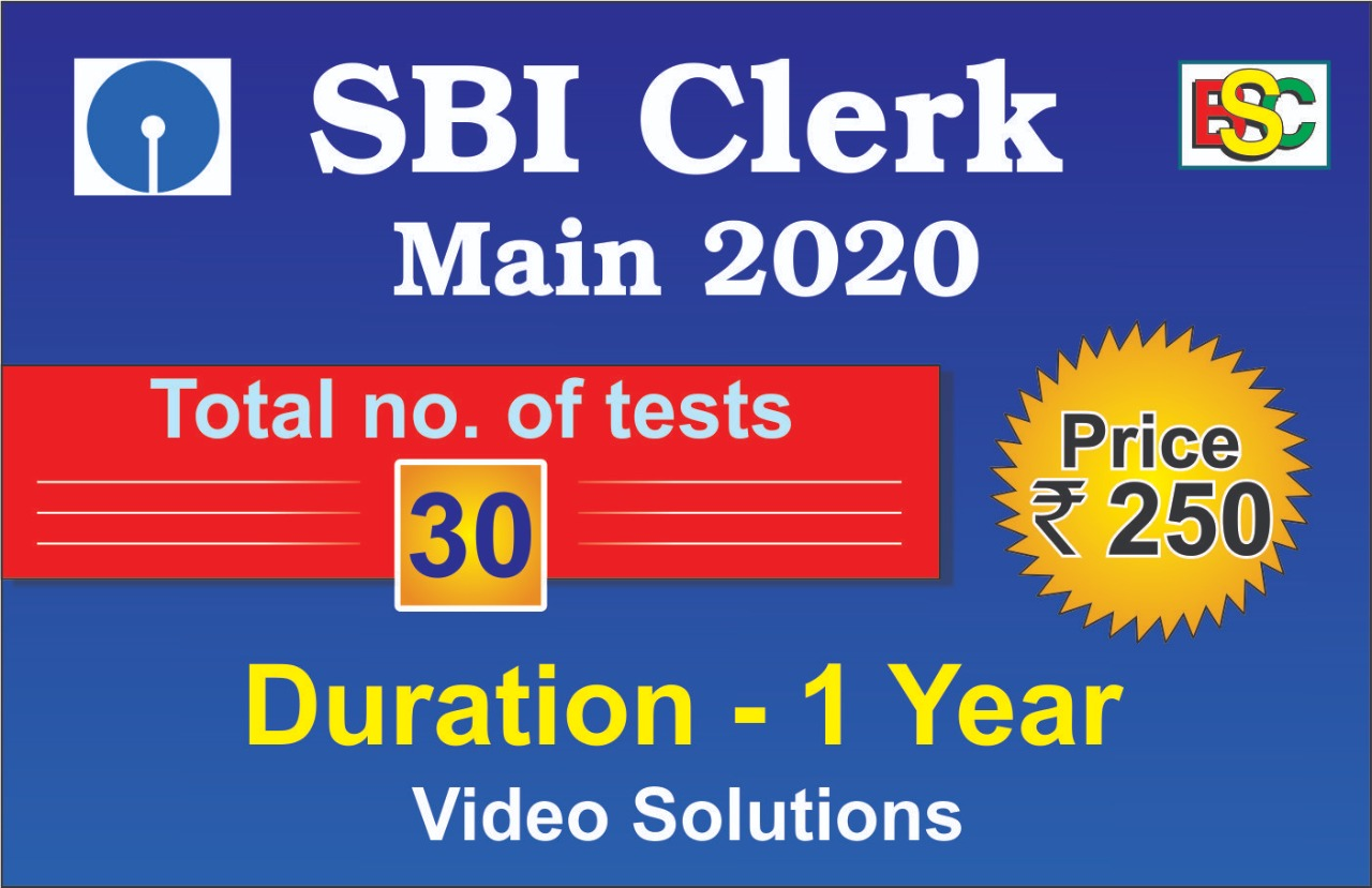 SBI CLERK MAIN