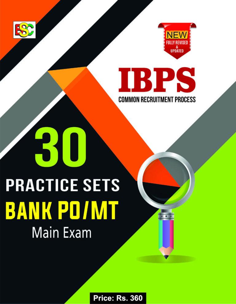 30 PRACTICE SET IBPS BANK PO MT MAIN EXAM