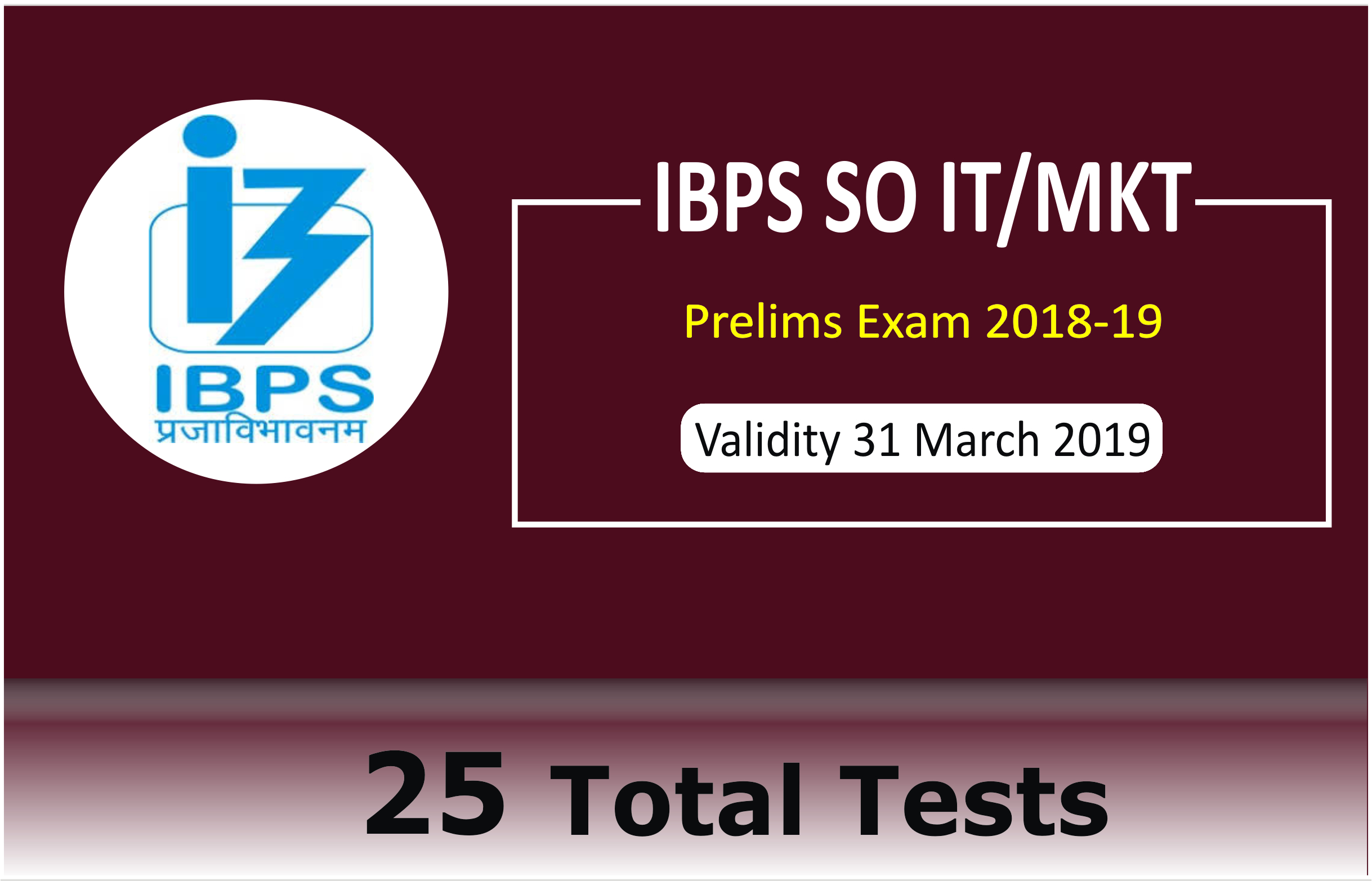 IBPS SO 2018-19 IT/MKT