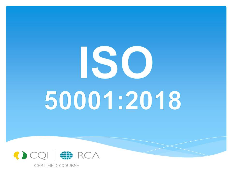 LEAD AUDITOR ISO 50001:2018 ENERGY MANAGEMENT SYSTEM (TRG-VTLA011,05,20)