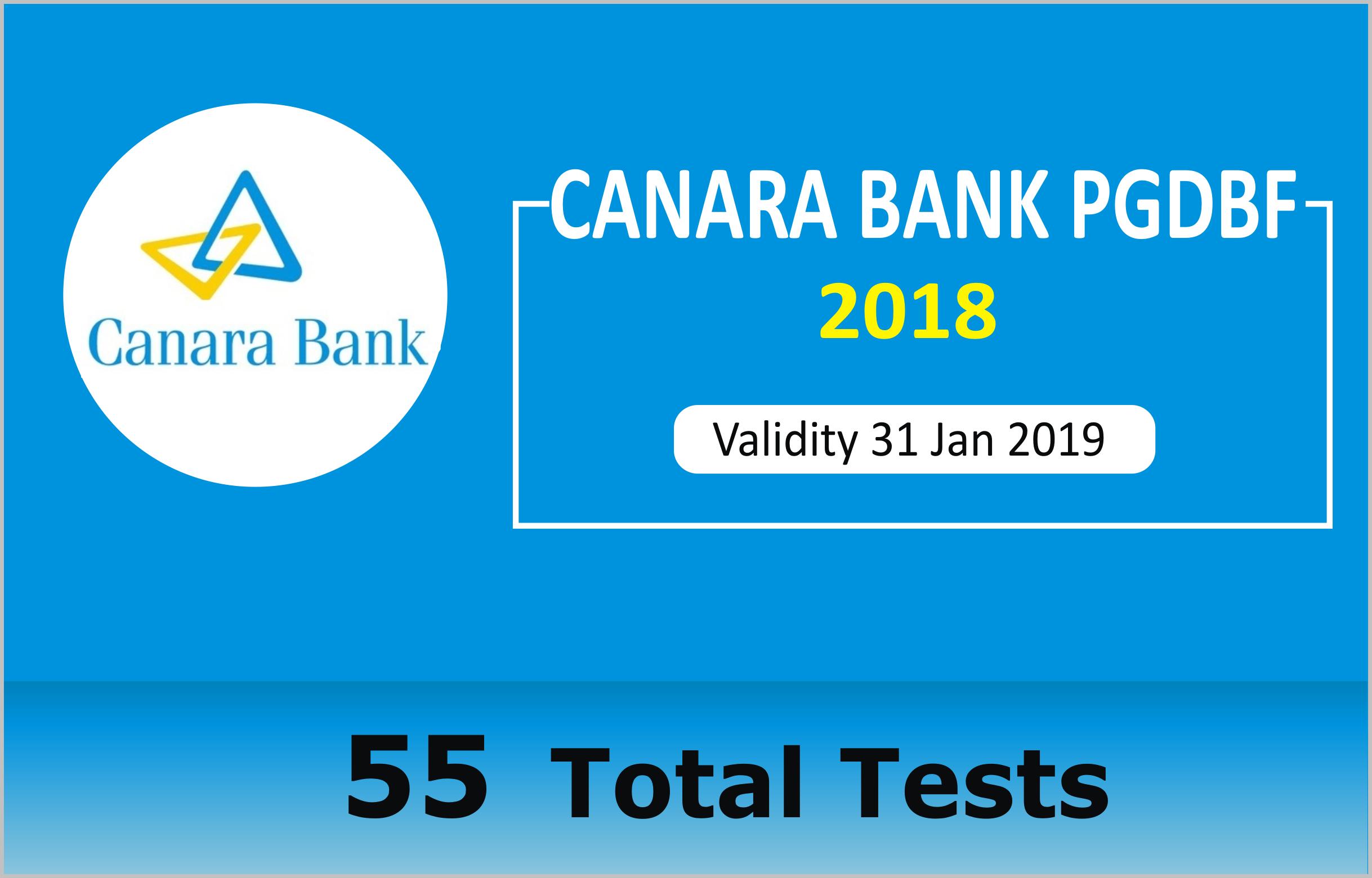CANARA BANK PGDBF 2018